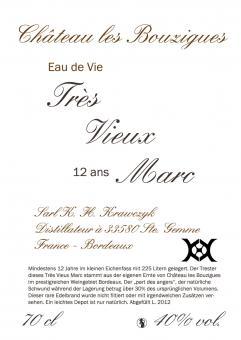 """Très Vieux Marc """"Coeur d'Or"""""""